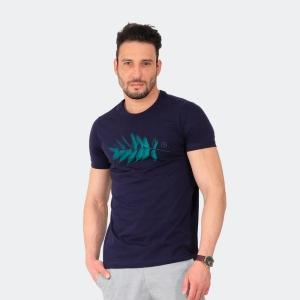 Camiseta Masculina Disky Folha Marinho