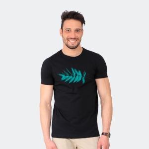 Camiseta Masculina Disky Folha Preta
