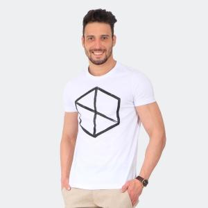 Camiseta Masculina Disky Logo Branca