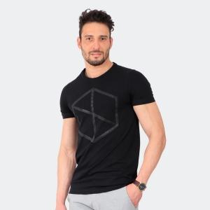 Camiseta Masculina Disky Logo Preta