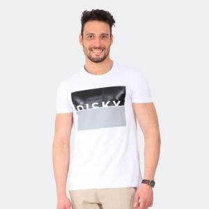 Camiseta Masculina Disky Negative Form Branca
