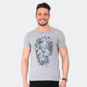 Camiseta Skuller Masculina Bird Skull Mescla
