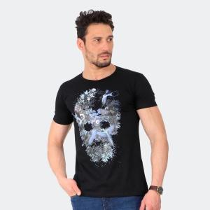Camiseta Skuller Masculina Bird Skull Preta