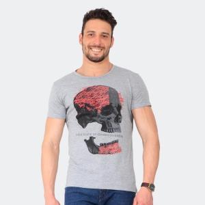 Camiseta Skuller Masculina Broken Skull Mescla