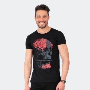 Camiseta Skuller Masculina Broken Skull Preta