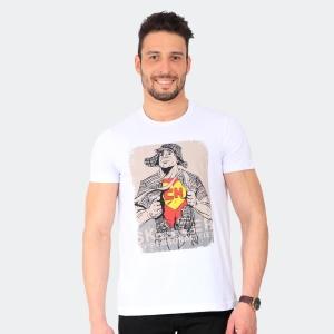 Camiseta Skuller Masculina Chapolin Branca