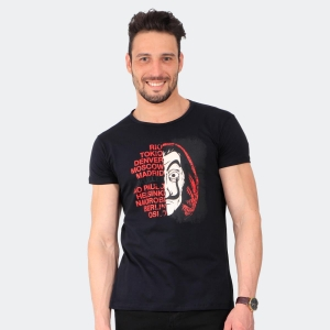 Camiseta Skuller Masculina Dali Preta