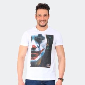 Camiseta Skuller Masculina Joker Branca