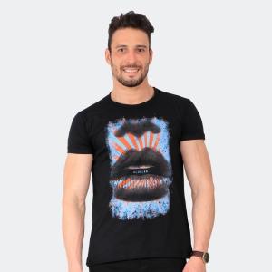 Camiseta Skuller Masculina Pop Art Preta
