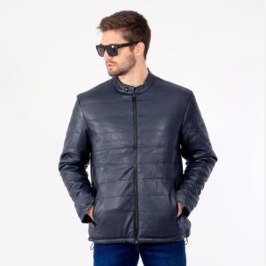 Jaqueta de Couro Ecológico Matelassê Blue