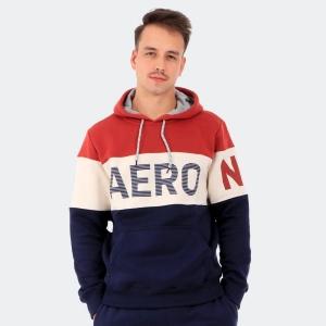 Moletom Aéropostale Canguru Masculino Aéro Marrom / Creme