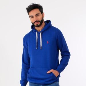 Moletom Masculino Ralph Lauren Canguru Azul Royal