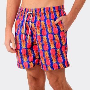 Shorts Praia Disky Abacaxi Rosa