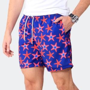 Shorts Praia Disky Estrela do Mar Azul