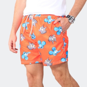 Shorts Praia Disky Itchy & Scratchy