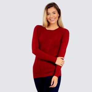 Suéter Dunialin Feminino Vermelho