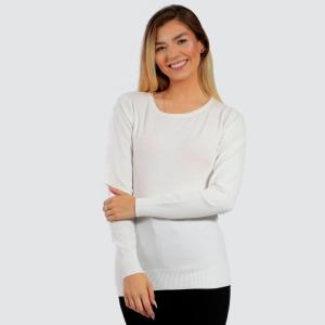 Suéter Dunialin Redonda Feminino Branco