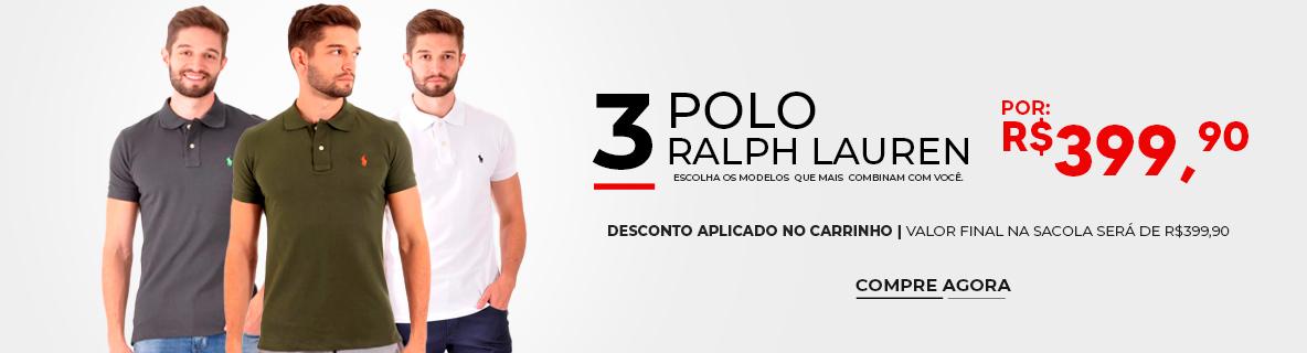3 Polo Ralph Lauren por R$399,90