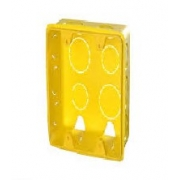 Caixa Plast 4 X 4 Amarela Flexivel 1266