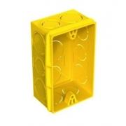 Caixa  Plast  4x2  Amarelo 8802