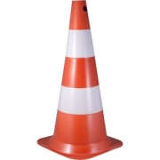 Cone 75cm Branco/Laranja Poliet 7029000754