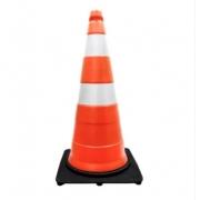 Cone 75cm Branco/Laranja Poliet 9627