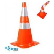 Cone 75cm Flexivel Branco/Laranja 70000662