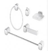 Kit Banheiro Tivoli Branco Cromado 5041