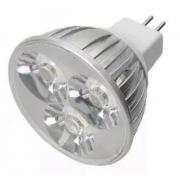 Lamp Dicroica Metalizada C/3leds 3x1w Bca