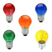 Lampada Bolinha  Colorida 15w 220w