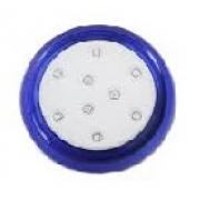 Refletor Led 18w 12v Azul Abs 80mm Rosca 60010019