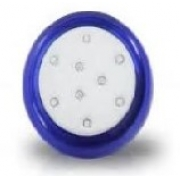 Refletor Led 09w 12v Azul Abs 80mm Rosca 60010003