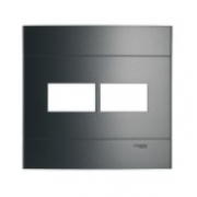 Placa 4 X 4 2 Secoes Prata Fume Decor Prm044425