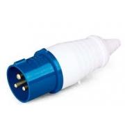 Plug Industrial Azul 2p+T 220v 16a 40008