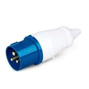 Plug Industrial Azul 2p+T 220v 32a 40011