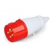 Plug Industrial Vermelho 3p+T 380v 16a 40009