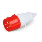 Plug Industrial Vermelho 3p+T 380v 32a 40012