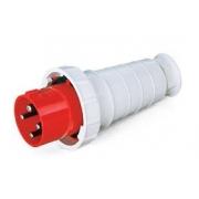 Plug Industrial Vermelho 3p+T 380v 63a 40014