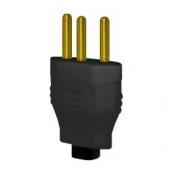 Plug Macho 2p+T 10a Preto 2730