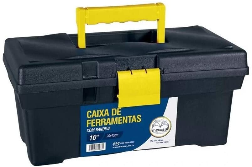 Caixa De Ferramentas 20 X 40 Preta 013601008
