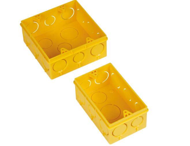 Caixa Plast 4 X 2 Amarela Flexfort 18791