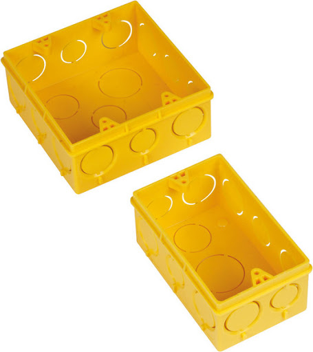 Caixa Plast 4 X 4 Amarela 11348 11556