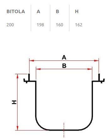 Calha P/ Piso Normal 200mm X 2,50m  13030111