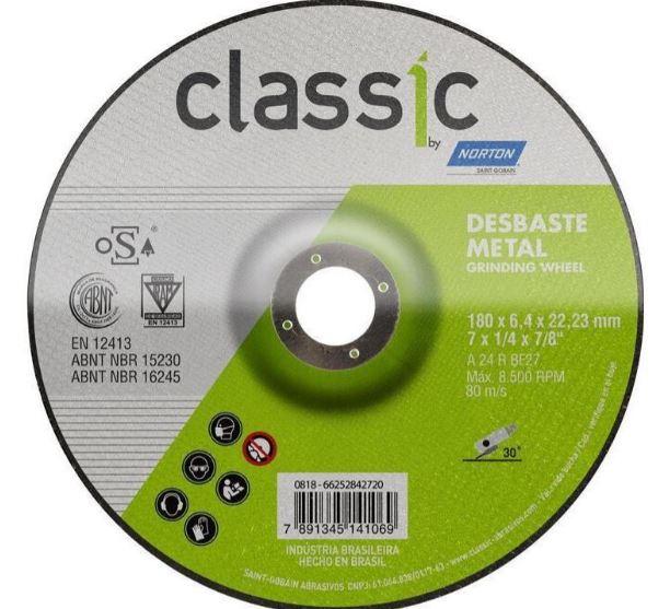 Disco Bda Nr.07 Desbaste Ferro 66252842720*