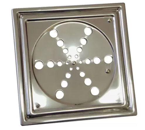 Grelha Inox Quadrada C/ Caixilio 10 X 10 106