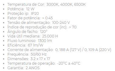 Painel Led 18w Sob Quad 3000k Biv 22,5x22,5 438350