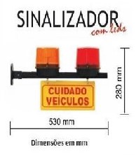 Sinalizador De Garagem Led Com Luzes Amar/Verm 105