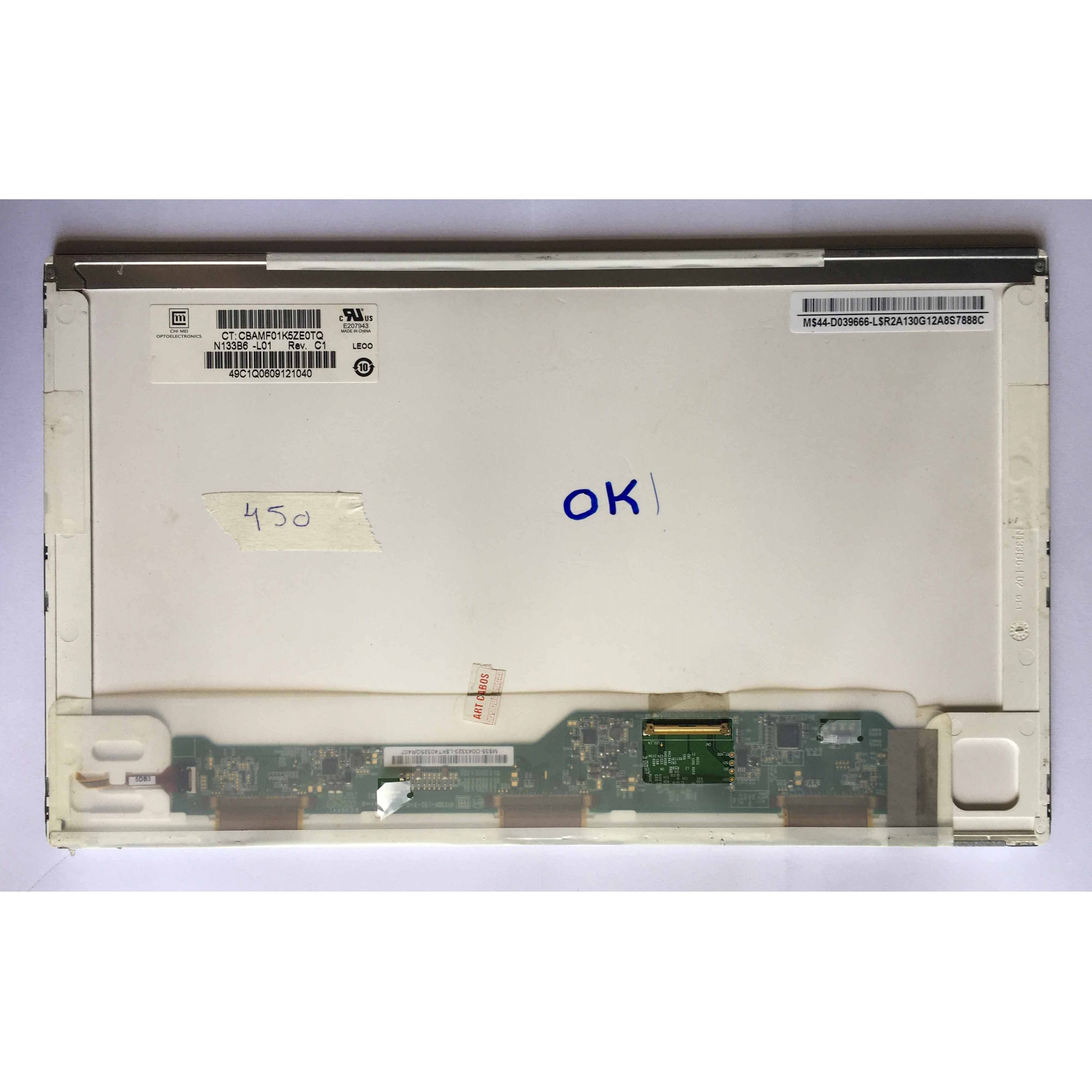 Tela 13.3 led 40 pinos n133b6-l01 usada