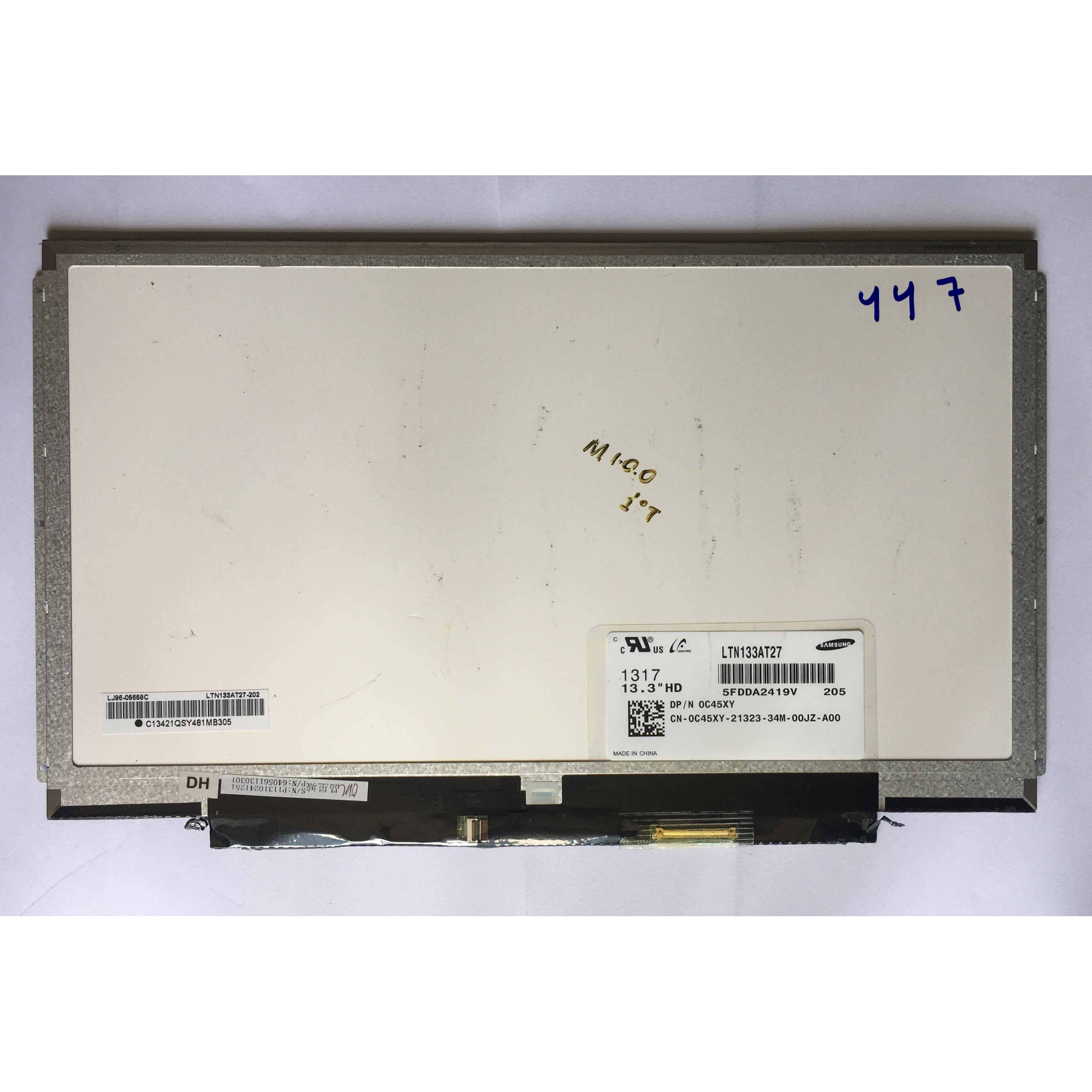 Tela 13.3 slim 40 pinos LTN133AT27 usada