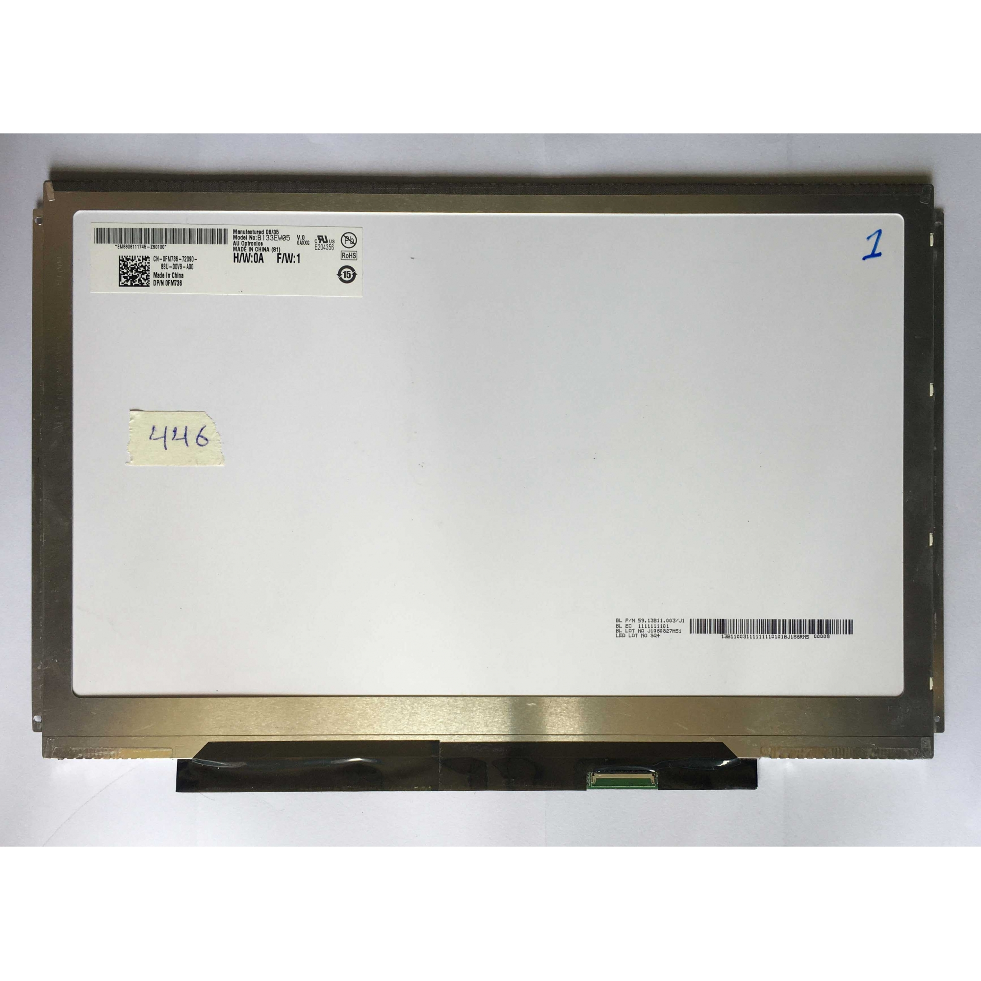 Tela 13.3 slim B133EW05 V.0 usada